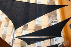3.6m Triangle Shade Sails x 5, Colour Charcoal