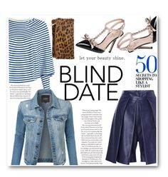 """""""Dress to Impress: Blind Date💙"""" by veronicawantscurves ❤ liked on Polyvore featuring MM6 Maison Margiela, LE3NO, Kate Spade, Fergie and Sandro"""