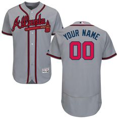 094e27d5eaa Youth Personalized Stitched Atlanta Braves Authentic Road Gray Jersey Sale