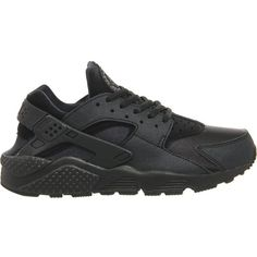 Air huarache trainers (240 BAM) ❤ liked on Polyvore featuring shoes, sneakers, nike, black black, nike shoes, black lace up sneakers, lacing sneakers, kohl shoes and print sneakers