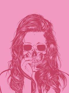 ☆ Skull Girl 1 :¦: By Artist Gerrel Saunders ☆