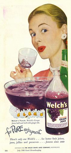 1948 Welch's Grace Juice ad. #vintage #1940s #juice #ads