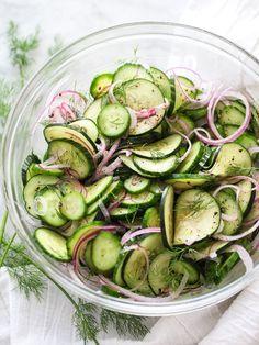 Dill Cucumber Salad on http://foodiecrush.com