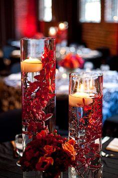 submerged red flower centerpiece - Google Search
