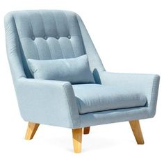 Check out this item at One Kings Lane! Carrol Gardens Sofa Chair, Eggshell Blue