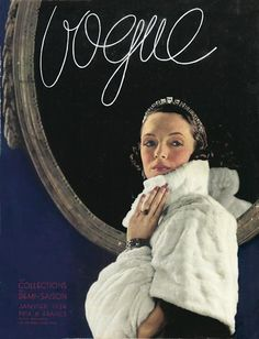 1934 Vogue - I just love the font!