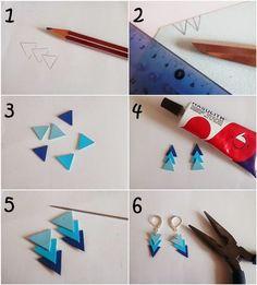 DIY : Boucles d'oreilles en simili cuir