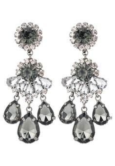 bestil sweet deluxe BURGAS - Øreringe - gunmetal/black diamond/crystal til kr 149,00 (01-12-16). Køb hos Zalando og få gratis levering.