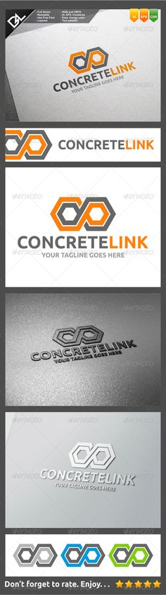 Buy Concrete Link by Skymav on GraphicRiver. Concrete Link Logo Template Easy to edit logo template with your own company name with vector for highly resizeable a. Elegant Business Cards, Cool Business Cards, Letterhead Template, Logo Templates, Construction Company Logo, Construction Branding, Edit Logo, Construction Birthday Parties, Symbol Logo