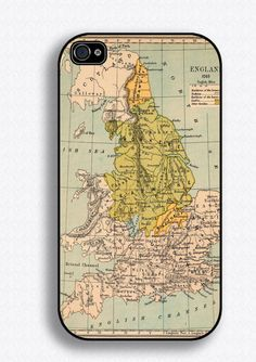 A vintage-map iPhone case: Think of travel every time you answer your phone!