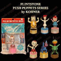 Flintstones Push Puppets by Kohner Retro Toys, Vintage Toys, Retro Vintage, Pebbles Flintstone, Yabba Dabba Doo, Popular Cartoons, Baby Boomer, Hanna Barbera, Vintage Cartoon