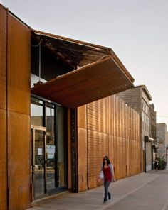 Corten Steel - Facade.  Great concept for a retail space.