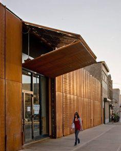Corten Steel - Facade.  Great concept for a retail space.