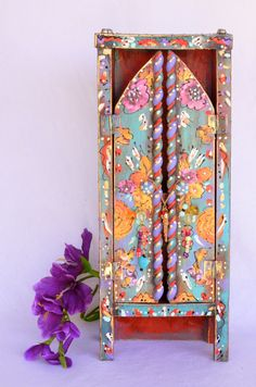 Boho Handmade Wooden Standing Cabinet Mexican by OliviabyDesign, $58.00