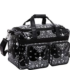 Loungefly Skull Bandana Print Luggage - Blk/Wht - via eBags.com!