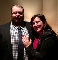 """It's #WeddingWednesday and we have a special #engagement to share... #Congratulations to David Adam Wehunt & Ashley Reding! 👏💍  David #proposed to Ashley on #Christmas Eve at Sugo Restaurant in Johns Creek. ❤️  Ashley shared the following: """"He proposed in front of my family by first thanking my family for welcoming him with open arms then turning to me and asking me to marry him after a beautiful speech."""""""