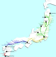 SHINKANSEN MAP - Go Japan Go
