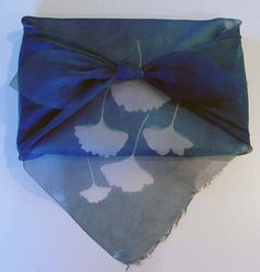 cyanotypes with textile paint