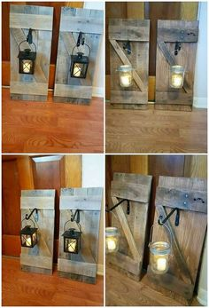 Capture the few unused wood pallet planks in your hands and carry it out with the designing creation