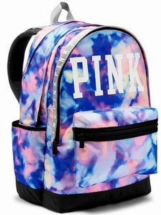 New Victoria's Secret VS Pink Tie Dye Campus Backpack Victoria Secret Rucksack, Mochila Victoria Secret, Rosa Victoria Secret, Victoria Secret Parfum, Mochila Jansport, Mochila Adidas, Cute Backpacks For School, Cute Mini Backpacks, Stylish Backpacks