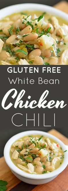 Gluten Free White Bean Chicken Chili Recipe | gluten free chili recipes | gluten free white bean chicken chili recipe | gluten free chicken chili recipes | gluten free fall recipes | gluten free chili | homemade gluten free chili || Now Find Gluten Free