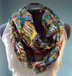 Marvel Comic Infinity Scarf. I NEED THIS SO BADLY IT HAS MY NAME WRITTEN ALL OVER IT.