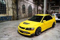 Yellow Fever Evo #mitsubishi #evolution