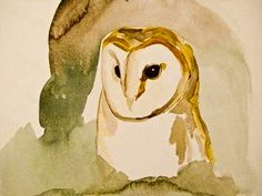 Possible owl tattoo/ awesome watercolor