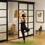 Sliding Glass Room Dividers Yoga Studio