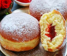 Polish Donut, Donut Filling, Party Desserts, Pain, Doughnut, Donuts, Bakery, Deserts, Food And Drink
