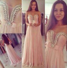 Charming Prom Dresses,Chiffon Prom Dresses,A-Line Prom Dresses,Strapless Prom Dresses,Crystal Prom Dresses