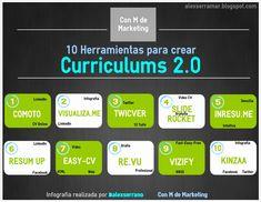 [Con M de Marketing]: 10 Recursos para Crear Curriculums Online [INFOGRAFIA]