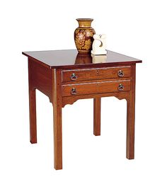 Cherry End Table (lightly distressed) by Colonial Furniture Colonial Furniture, Antique Furniture, Cherry End Tables, Cherry Furniture, Norwegian Rosemaling, Scandinavian Countries, Old World Charm, French Country Decorating, Great Rooms