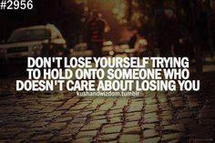 Don't lose someone