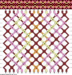 Muster # 42072, Streicher: 16 Zeilen: 14 Farben: 4