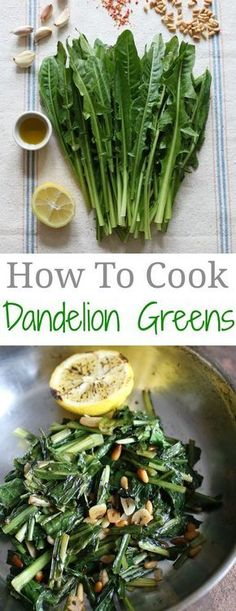 How to Cook Dandelion Greens #forage #wild #recipe. I LOVED these as a kid! Also fried fresh dandelion blooms-AbO7