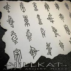 Repost of the embellished elder futhark runes I did a while ago :) #rune #runes #runetattoo #elderfuthark #pagantattoo #vikingtattoo #heathen #theoldways #paganart #vikingart #villkat #villkatarts #villkattattoo #ancientart #ancientmarks