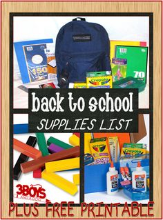 Back to School Supplies List {Save Now!}