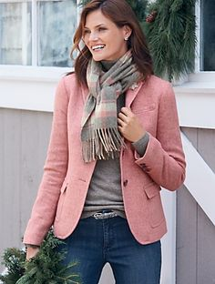 Talbots - Herringbone Shetland Blazer | | Misses Discover your new look at Talbots. Shop our Herringbone Shetland Blazer for stylish clothing and accessories with a modern twist at Talbots