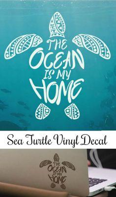 Sea Turtle Mandala Vinyl Decal #ad #Etsy #turtle