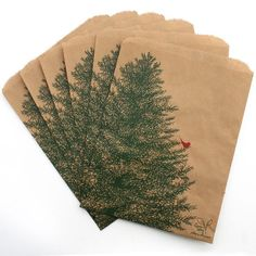 Brown Paper Bags printed with water based ink for Christmas giveaway treats