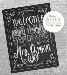 Personalized Bridal Luncheon/Bridal Shower Chalkboard?