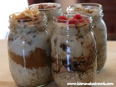 Breakfast Bowls, Mason Jars, Oatmeal, Recipies, Lunch Box, Health Fitness, Food And Drink, Sweets, Meals