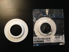 Ikea Lamp Shade Light Fitting White Metal Reducer Ring Washer Adaptor Convertor #IKEA
