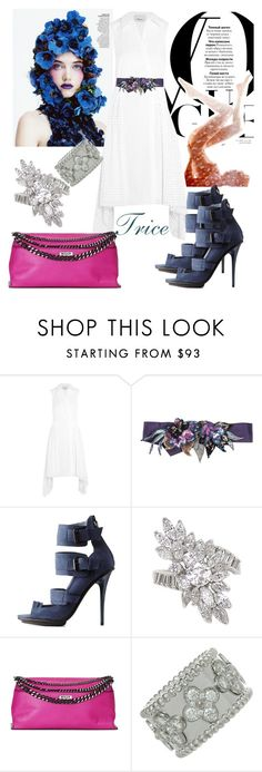 """""""How Many"""" by tricewillbe ❤ liked on Polyvore featuring 3.1 Phillip Lim, Dries Van Noten, gx by Gwen Stefani, Milly and Van Cleef & Arpels"""