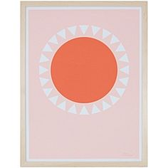 Orange Sun by Honey & Bloom | Serena & Lily #modernnursery #summerinthecity orang sun
