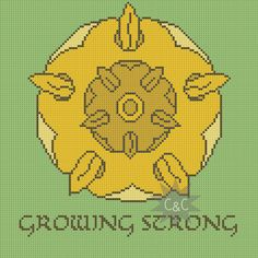 Game of Thrones Tyrell house sigil counted cross stitch PDF pattern