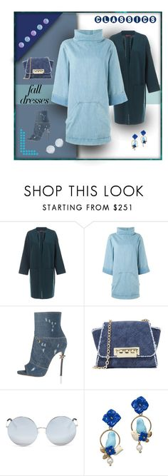 """""""Denim Delight"""" by michelletheaflack ❤ liked on Polyvore featuring WtR, Chloé, Dsquared2, ZAC Zac Posen, Matthew Williamson, Of Rare Origin, polyvorecontests, styleinsider and falldresses"""