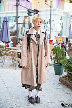 Tendance Chaussures 2017/ 2018 : Short Bob, Trench Coat, Axes Femme Dress & Loafers in Harajuku