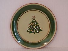 """VINTAGE 1956 -1969 STANGL SMALL CHRISTMAS TREE PLATE 6-1/8"""" BY KAY HACKET"""